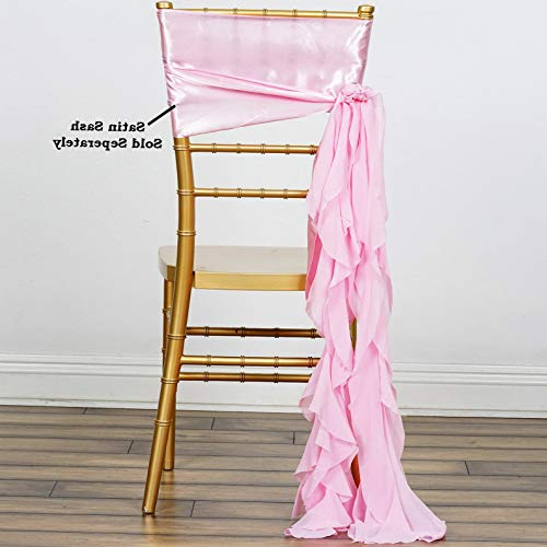Mikash Chair Sashes Curly Chiffon Wedding Party Reception Home Decorations Wholesale | Model WDDNGDCRTN - 6654 | 1 pc
