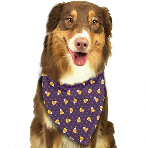 OURFASHION Candy Corn Silly Halloween Bandana Triangle Bibs Scarfs Accessories for Pet Cats and Puppies