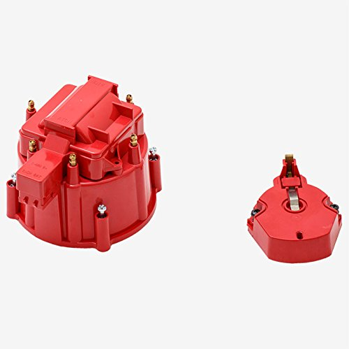 A-Team Performance CR6R HEI OEM Distributor Cap, Rotor and, Coil Cover Kit Red 6 ()
