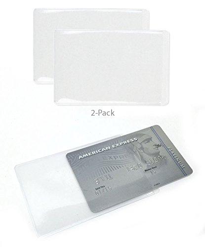 Credit Card Cigarette Case Wallet (2 Pack - Protective Clear Credit Card Sleeve Holder)