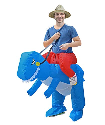 Vipyaqi Dinosaur Inflatable Costume T-Rex Fancy Dress for Adult Height 59''-75'' Halloween Costumes Cosplay Dress Up - ()