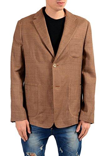 MALO Men's 100% Silk Two Button Blazer Sport Coat US 44 IT 54