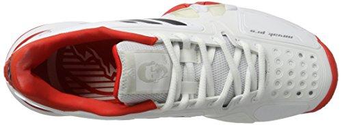 adidas Novak Pro, Scarpe da Tennis Uomo Bianco (Footwear White/Collegiate Navy/Core Red)