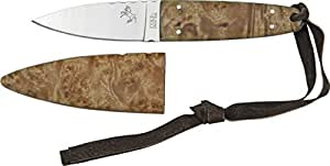 Colt Fixed Blade Hunter Knife, 3.125in, Stainless Blade, Burl Wood Handle