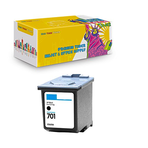 New York TonerTM New Compatible 1 Pack CC635A HP 701 High Yield Inkjet For HP FAX : FAX 640 | FAX 650 | FAX 2140 . -- Black (Inkjet 2140 Fax)