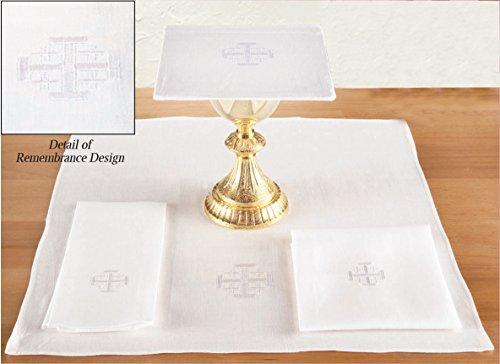 Jerusalem Cross Altar Linen Set - 100% Linen