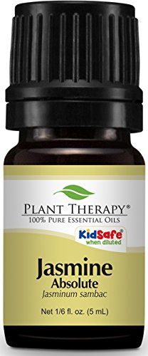 Plant Therapy Jasmine Absolute Essential Oil. 100% Pure, Undiluted, Therapeutic Grade. 5 mL (1/3 (Jasmine Absolute)