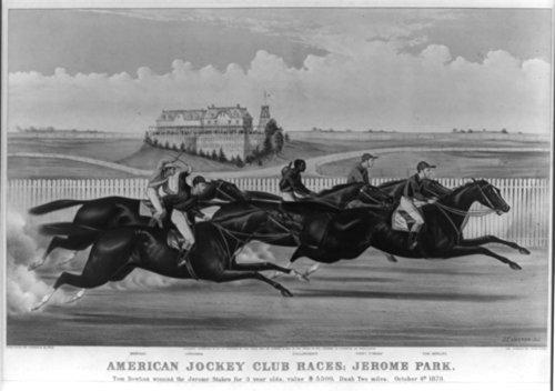 - 1873 Photograph American Jockey Club Races; Jerome Park: Tom Bowling