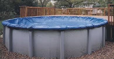 Swimline 30 Foot Heavy Duty Deluxe Round Above Ground Winter Swimming Pool Cover (Best Rated Above Ground Pool Covers)