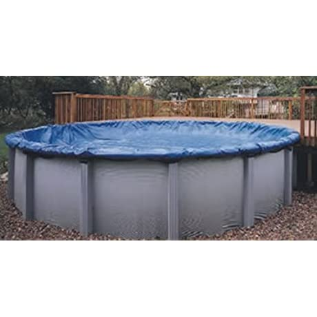 Swimline S28RD 28 Winter Round Above Ground Swimming Pool Cover Blue