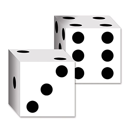 Beistle 54132 2-Pack Dice Card Boxes, 6-1/2-Inch by 6-1/2-Inch (Value 3-Pack) -