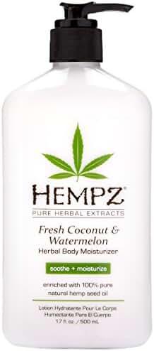 Hempz Herbal Body Moisturizer, Fresh Coconut/Watermelon, 17 Fluid Ounce
