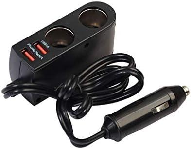 RETYLY 2ウェイ車のシガーライター+スイッチオートソケットスプリッタ充電器usb 3.1a 12ボルト/ 24ボルト車ライターアダプター
