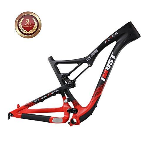 IMUST 27.5er Carbon All Mountain Bike Suspension Frame BB92 19 Inch 142mm Thru Axle