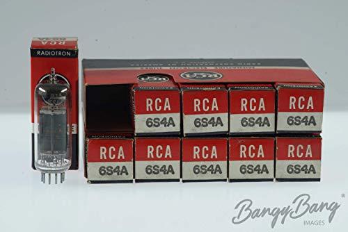 10 Vintage Box RCA 6SF4 / 6SF4A Premium Black Plate Tube Valve - BangyBang Tubes