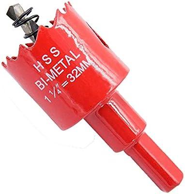 Ruko HSS Arbor Holder Including Pilot Drill Bit for Bi-Metal 32.0-210.0mm Hole Saw Bright Finish R106209 9.5 mm diameter