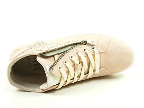 Mustang 1246-502 Schuhe Damen Schnür Booty Sneaker High Top, Schuhgröße:41;Farbe:Rosa