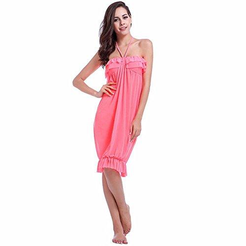 SHISHANG Señoras de la falda de la playa de Europa y los Estados Unidos era nuevo vestido del hilado del verano delgada de alta elasticidad neta phosphor