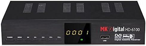 MK Digital - Receptor de satélite HD 6100 FTA Full HDTV