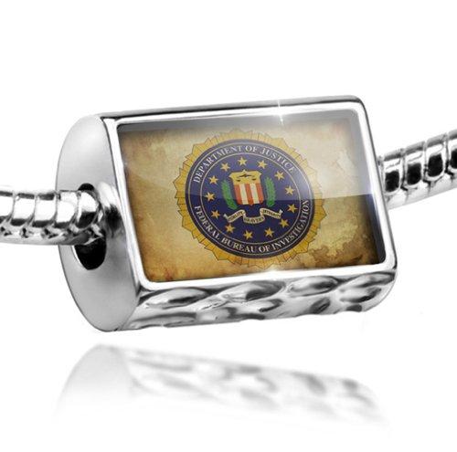 Charm FBI Federal Bureau of Investigation - Bead Fit All European Bracelets , N