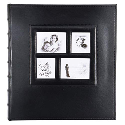Artmag Photo Album 4x6 1000 Photos, Large Capacity Wedding Family Leather Cover Picture Albums Holds Horizontal and Vertical 4x6 Photos with Black Pages Black