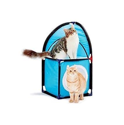 Caseta Cama para Gatos suave cojín colchón gato 2 niveles estantes