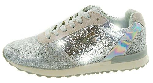 Beppi Damen Schuhe Modeschuhe mit Glitzer-Applikationen, Silber, Silberschuhe