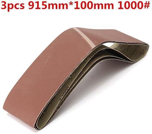 KUNSE 3Stk 915Mm * 100Mm Alumina Schleifbänder 1000 Grit Sandpapier Selbstschärfenden Oxid-Schleifstreifen