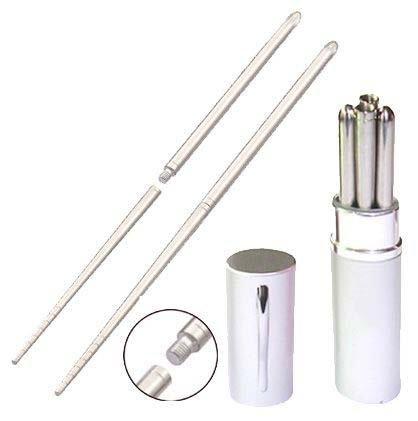 Leegoal Aluminum Pen Shape Shell Stainless Steel Folding Travel Chopsticks