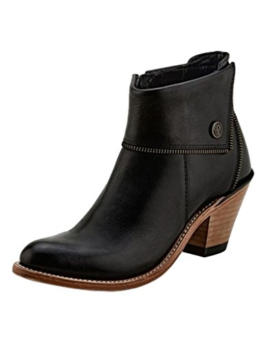 Old West Boots Women's Zippered Ankle Boot Black 8 B US