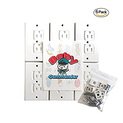 BABY PROOF Electrical Outlet Covers [6 Pack] Self-Closing Wall Plug Covers, Child Safety Sliding Outlet Protector - Hardware Included Easy To Install