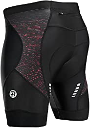 Rahhint Men's Biker Shorts, Padded Cycling Shorts Men, Mountain Bike Shorts with Anti-Slip Leg Grips and R