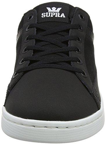 Supra Mens Westlake Enkellaagse Fashion Sneaker Zwart Wit