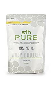 PURE Whey Protein Powder (Tropical) by SFH   Best Tasting 100% Grass Fed Whey   All Natural   100% Non-GMO, No Artificials, Soy Free, Gluten Free   2lb bag (960g)   32 servings