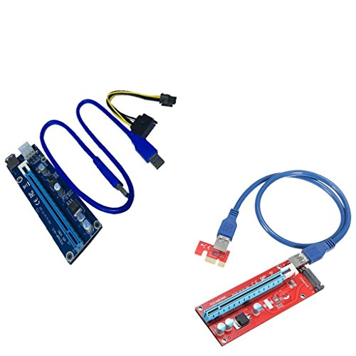 Jili Online 60cm & 30cm Extension Cable PCI-Express Card Power Connector for Bitcoin by Jili Online