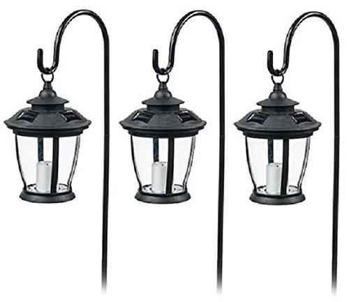 Four Seasons TV29960BK Black, Solar Candle Pathway Lantern Lights - Quantity ()