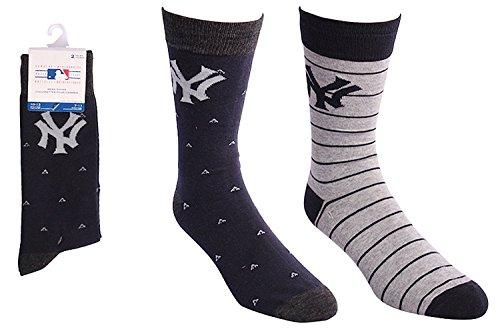 (New York Yankees Dress Socks 2 Pack Mens Shoe Size 7-11)