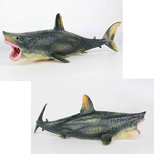 Oncpcare Figuras de tiburón Antiguas para decoración de Acuario, réplica de Acuario de Sealife, Adorno de Acuario, decoración de Paisaje de pecera, ...