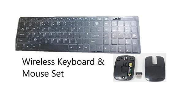 Teclado Fino inalámbrico Negro + Almohadilla Num y ratón para UE50EH5300 Samsung Smart TV: Amazon.es: Electrónica