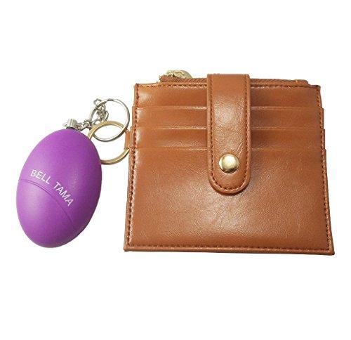 safecard Mujer RFID bloqueo de soporte de tarjeta de Crédito con alarma Personal, Marrón, Mini