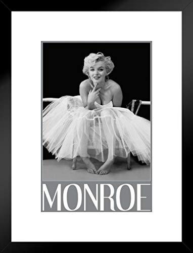 Pyramid America Marilyn Monroe Ballerina Hollywood Glamour Celebrity Actress Icon Photograph Photo Matted Framed Poster 20x26 inch