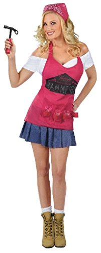 [Ponce Construction Worker Costume Builder Drinking Dress Apron] (Girl Construction Worker Costumes)