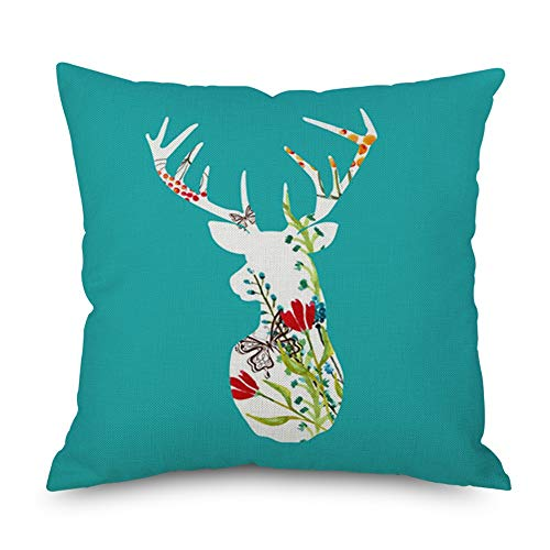 Throw Pillow Cover 18 x 18 Abstract Deer