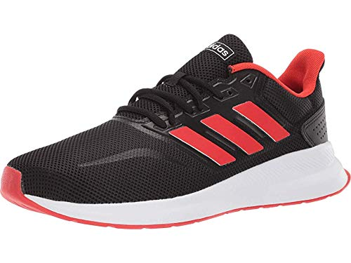 adidas Men's RunFalcon Running Shoe, Black/Active Red/Black, 11.5 M US