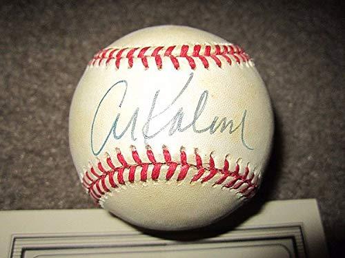 - Al Kaline Autographed Signature Baseball American League Detroit Tigers Mounted Memories