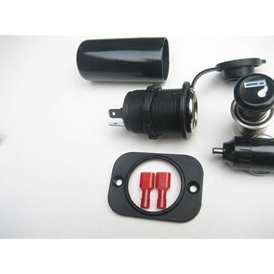 12vtechnology Waterproof Cigarette Lighter High Power 20 Amp Accessory 12 Volt Motorcycle Marine Socket Power Outlet T+: Automotive