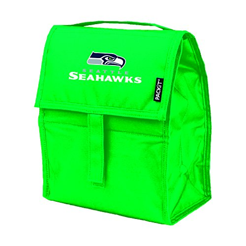 NFL Seattle Seahawks PACKit Freezable Lunch Bag, Green (Seattle Lunch Seahawks)