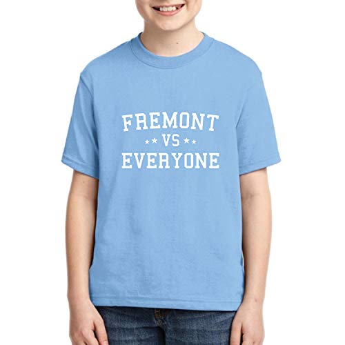 Donkey Threads Fremont Vs Everyone City Pride Girls Kid Sized Graphic T-Shirt, Light Blue, Large