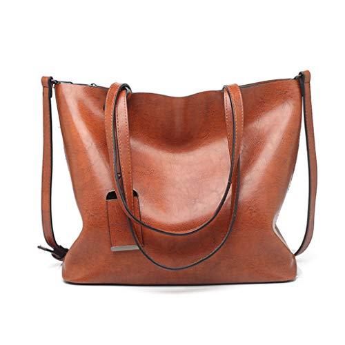 Messenger Grande Couleurs bandoulière Brown 12 Mode grasse Bag à Sac capacité rétro à Main féminine 29 32 Couleur cm Sac 4 Peau Polyvalent B0PwaA0Oq