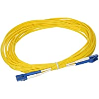 C2G/Cables To Go 08355 LC-LC 9/125 OS2 Duplex Single-Mode PVC Fiber Optic Cable, Yellow (26.2 Feet, 8 Meters)